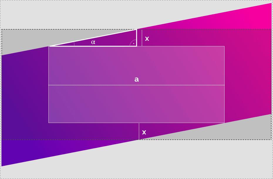 Создание диагональных лейаутов. Расчет паддингов